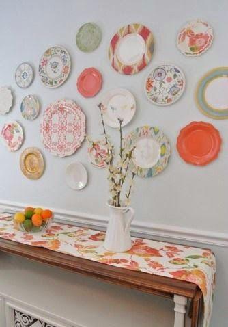 Decorando con platos en la pared creactividad pinterest decorar tu casa platos y es facil - Platos decorativos pared ...