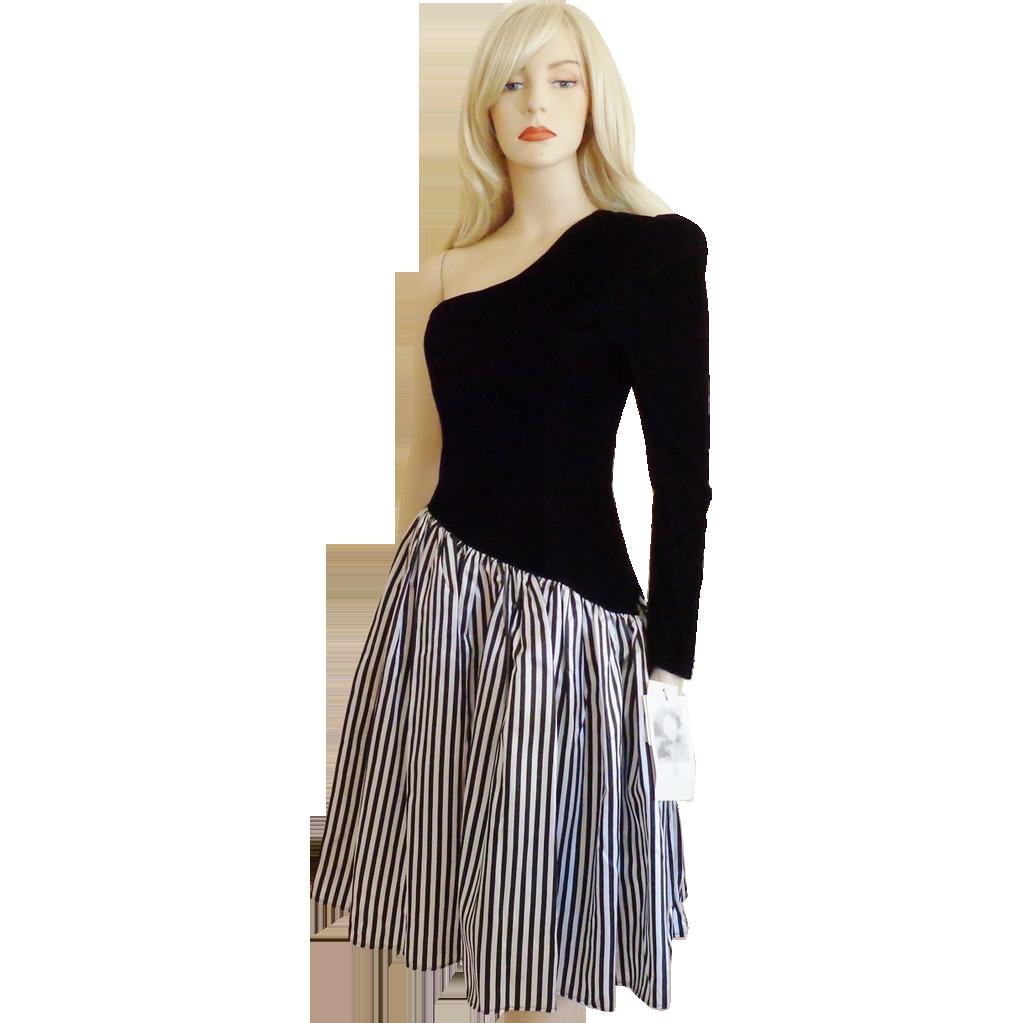 Gunne sax dress jessica mcclintock vintage us black u white