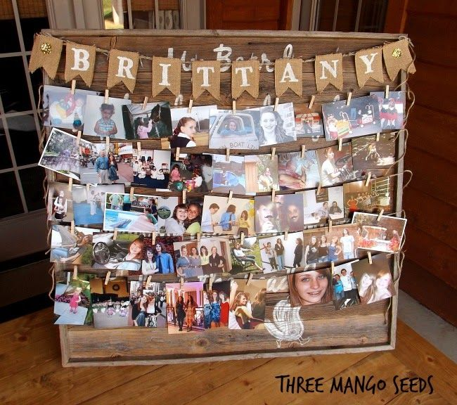 Three Mango Seeds Photo Display Board Senior Table Graduation
