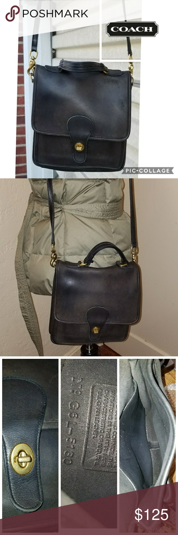 Vintage Coach station bag Great piece. I have cleaned and condition this bag.  It is guaranteed authentic and the creed is shown. 04d189d0f7