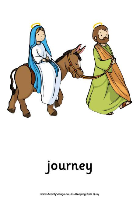 Printable image of mary on donkey view and print for Idea door journey to bethlehem