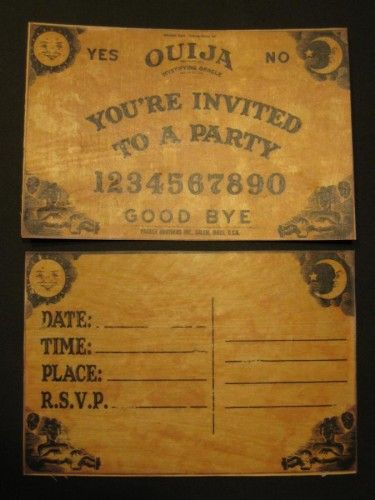 Ouija Party Invitations For Halloween Printable Templates And She Transferred These To Actual Wood Make Miniature