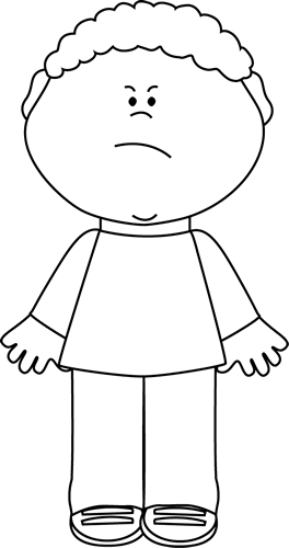 Black And White Angry Boy Clipart Black And White Coloring Pages For Boys Clip Art