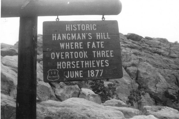 This Marker Was Posted At Hangman S Hill On Skyline Drive In The 1960s Submitted By Pauline Meister Of Rapid City Rap Skyline Drive South Dakota Rapid City
