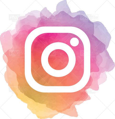 Instagram Watercolor Social Media Logo Png in 2020