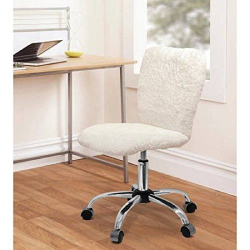 Fun And Stylish Faux Fur Task Chair With Adjustable Height Lever