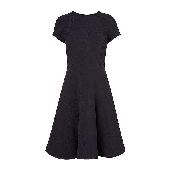 L.K. Bennett Eugenia Skirted Dress ($305) ❤ liked on Polyvore featuring dresses, l.k.bennett, l k bennett dresses and short sleeve dress