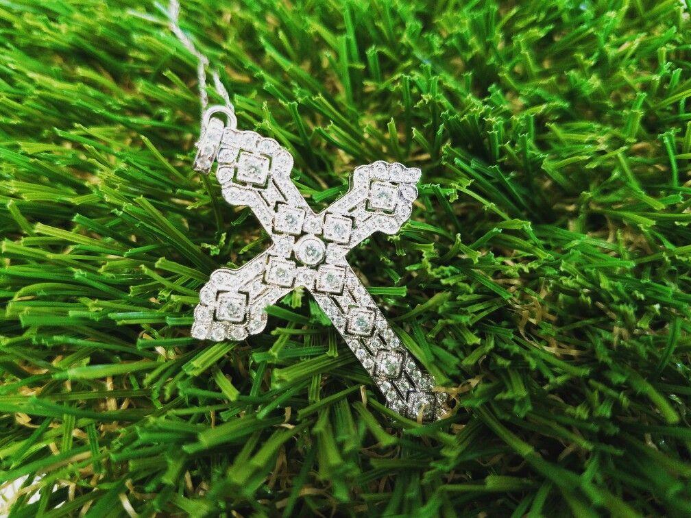 Diamonds are forever! 💎 #schomburgs #jewelers #shoplocal #familybusiness #columbusga #finejewelry #diamond #cross #pendant #sparkle #jewelrygoals