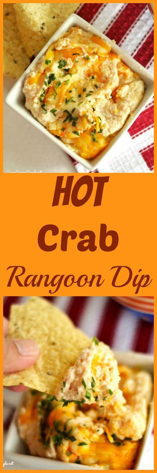 Crab Rangoon Dip (Hot Crab Dip) #crabrangoondip