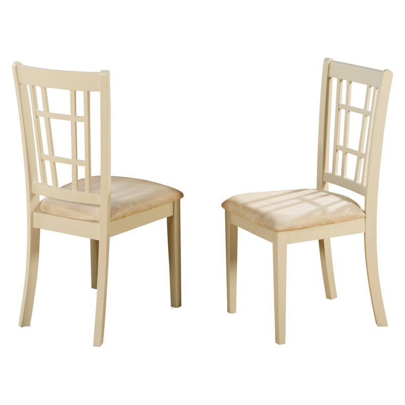 East West Furniture Nicoli Dining Chair With Microfiber Seat Set