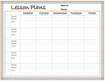 This Is A More Detailed And Structured Lesson Plan Template It
