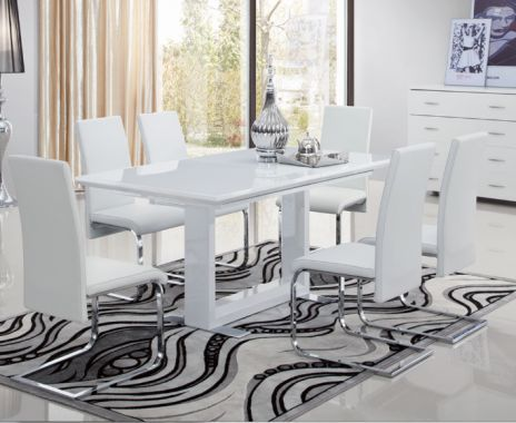 39+ White gloss extendable dining table and chairs Ideas