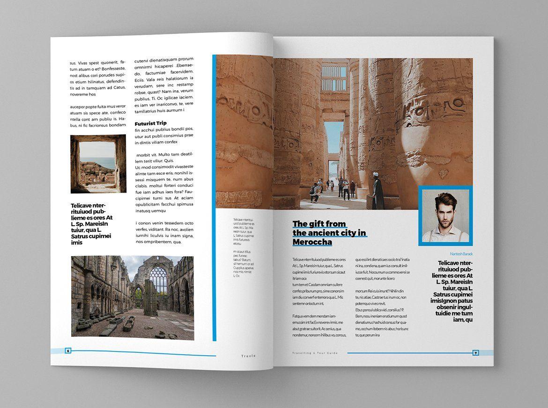 Trafle Magazine Template In 2020 Magazine Template Brochure Design Templates