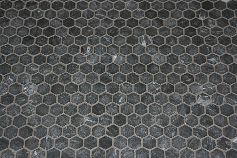 Honed Black Marble Hexagon Tile Color For Bathroom And Kitchen