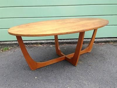 Vintage Retro Mid Century 1960s 70s Teak Oval Coffee Table G Plan Style