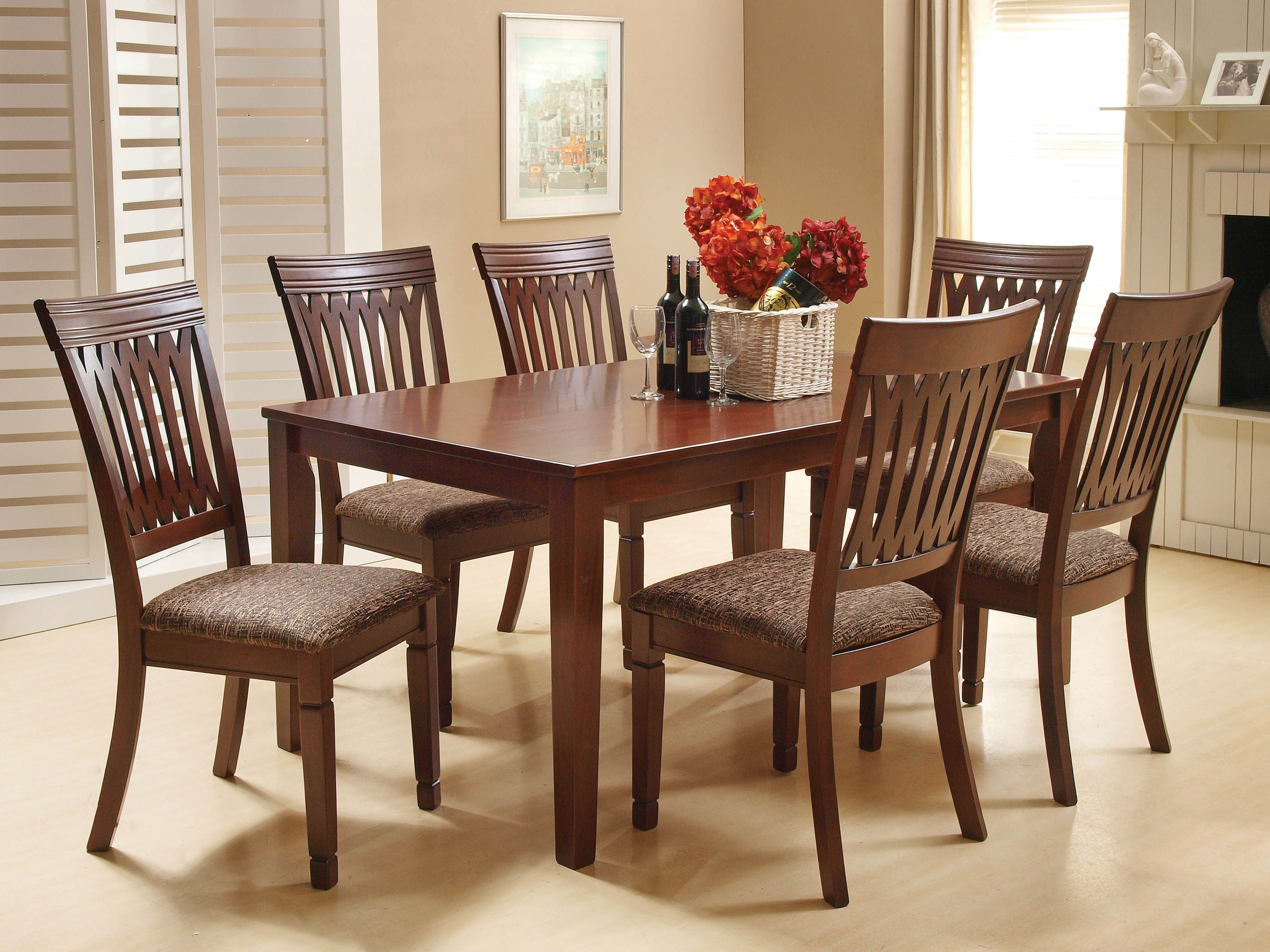 Gilmer Dining Set  The More The Merrier With The Sturdy And Amazing Cheap Dining Room Chairs Set Of 6 2018