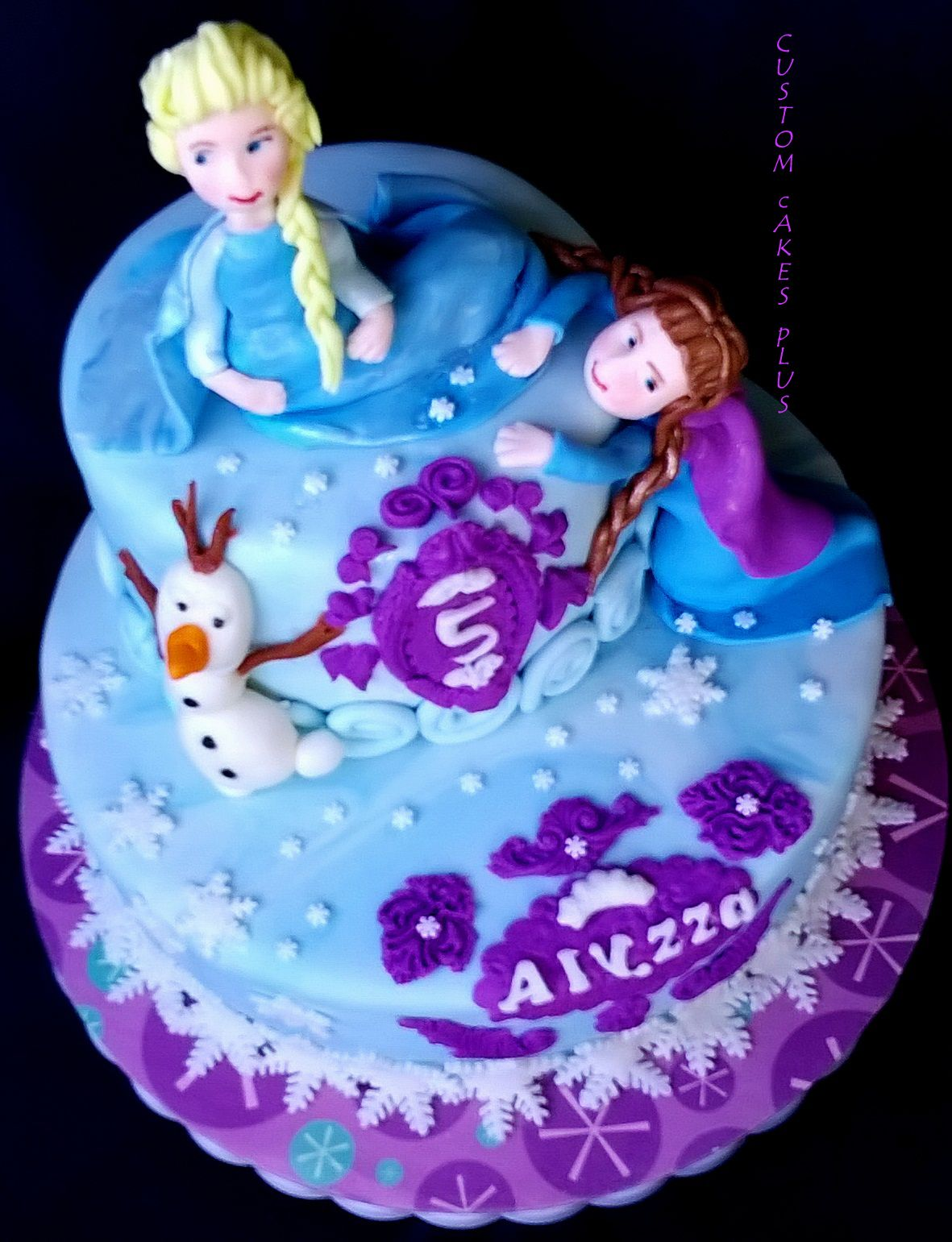 Frozen Ana And Elsa Themed Birthday Cake Frozen Birthday Party