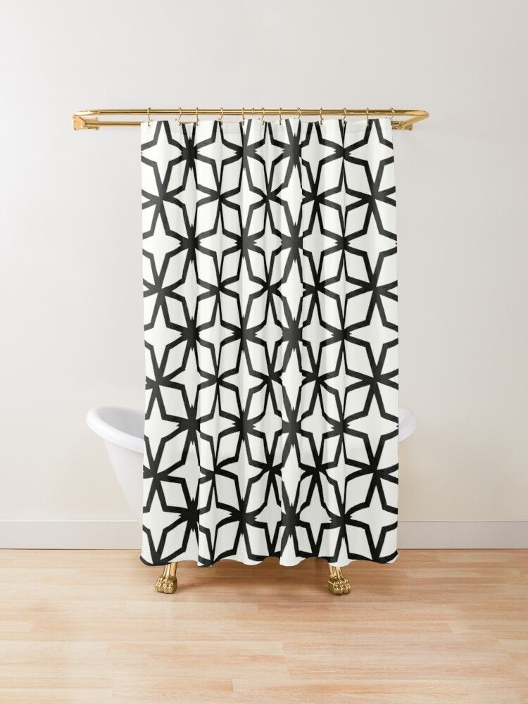 Herringbone Shower Curtain By Graphsodia In 2020 Modern Shower Curtains Marimekko Shower Curtain Scandinavian Shower Curtains