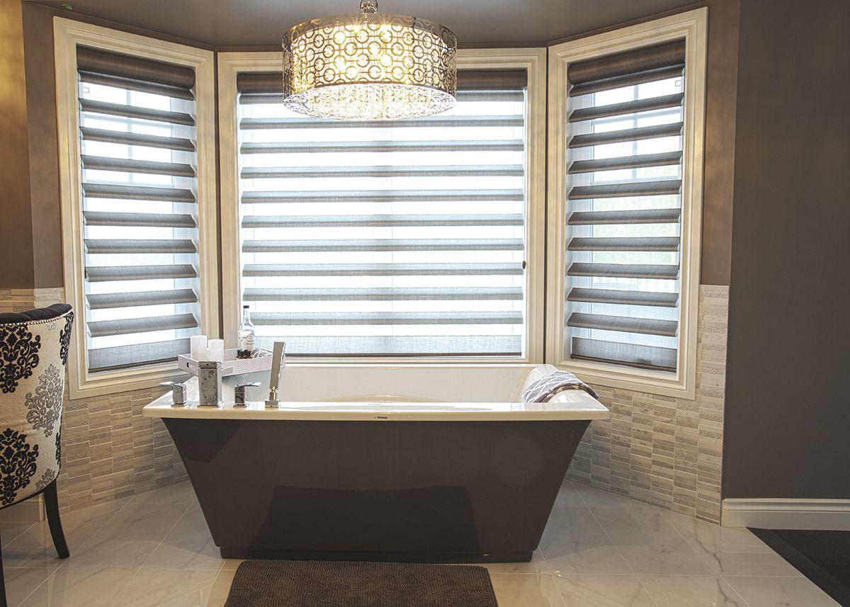 Alair Homes | Edmonton | Rebuild | Master bathroom features a ...