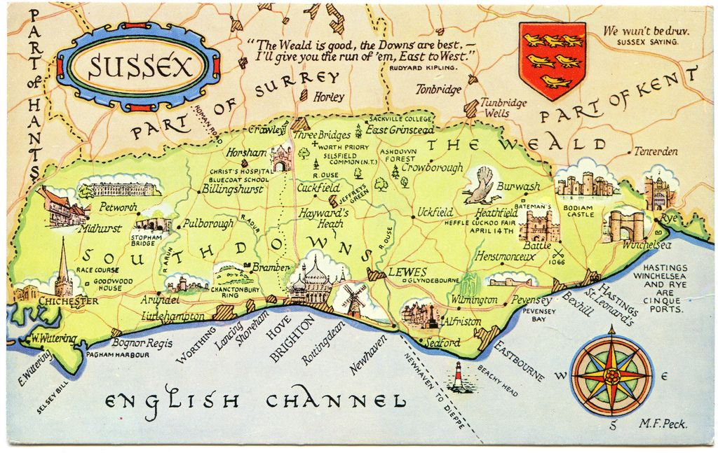 sussex london map