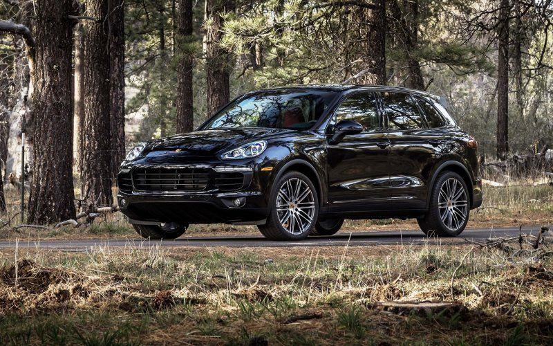 Wallpaper Porsche Cayenne 2018 Black Car Outdoor Car