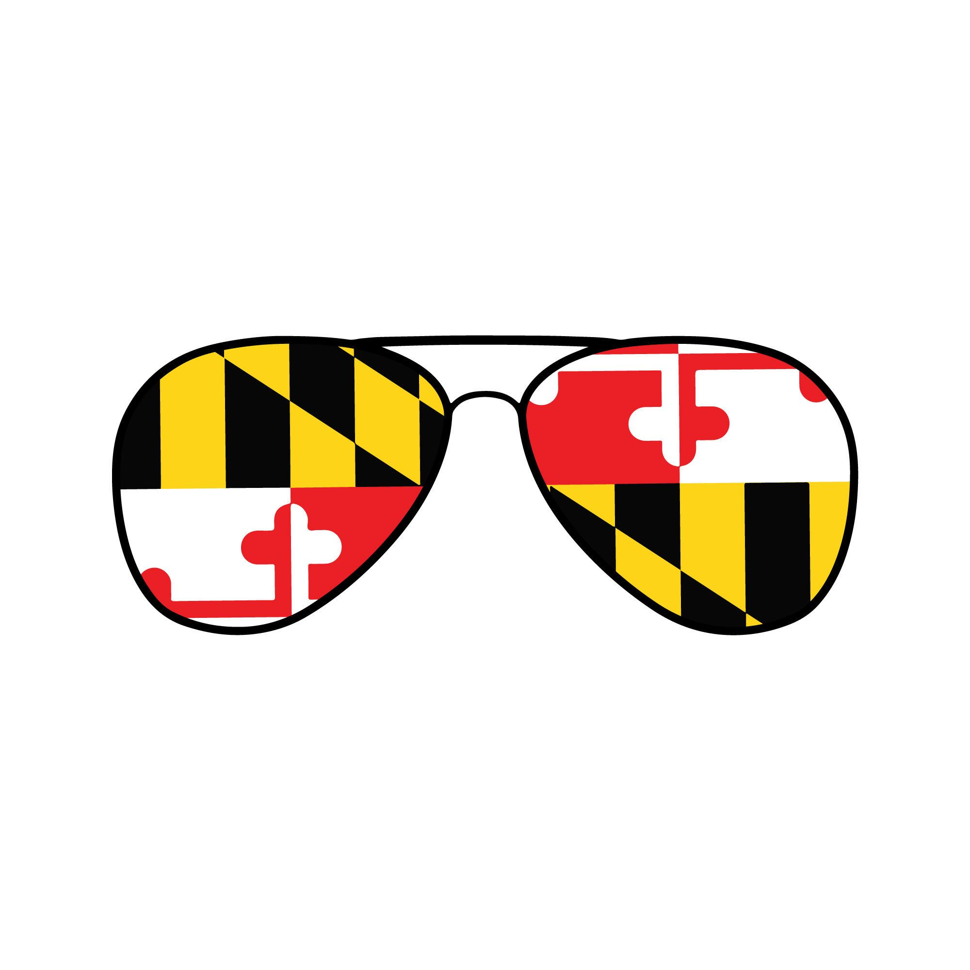 Maryland Flag Sunglasses Car Decal Maryland State Sunglasses Etsy In 2020 Maryland Flag Maryland Flag Decal Police Decal