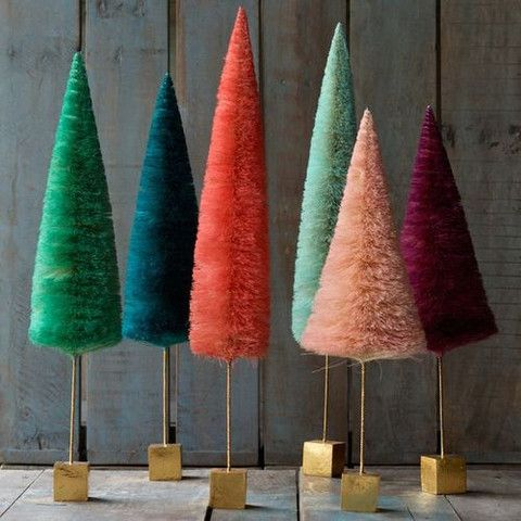 Pin By Andrea Stieff Stieff Co On Bottle Brush Christmas Trees Obsession Bottle Brush Christmas Trees Winter Floral Decor Paper Christmas Tree