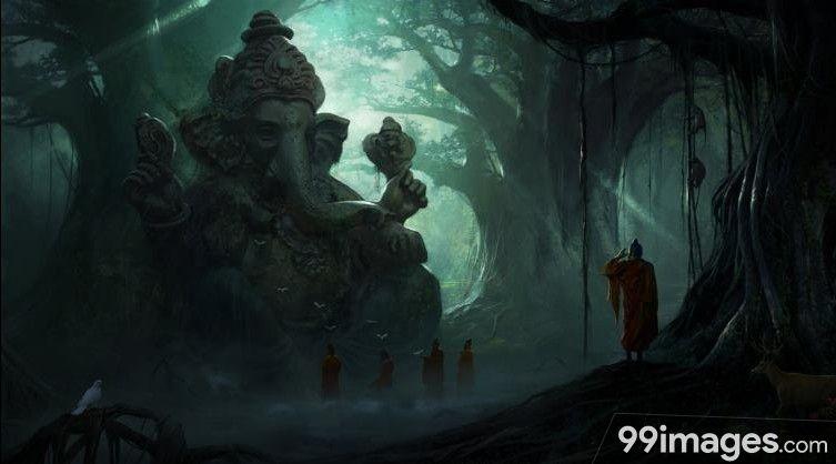Lord Ganesha Hd Wallpapers Images 1080p 7025 Lordganesha Pillaiyar Vinayagar Ganeshan God Hindu Ganesha Digital Wallpaper Lord Ganesha