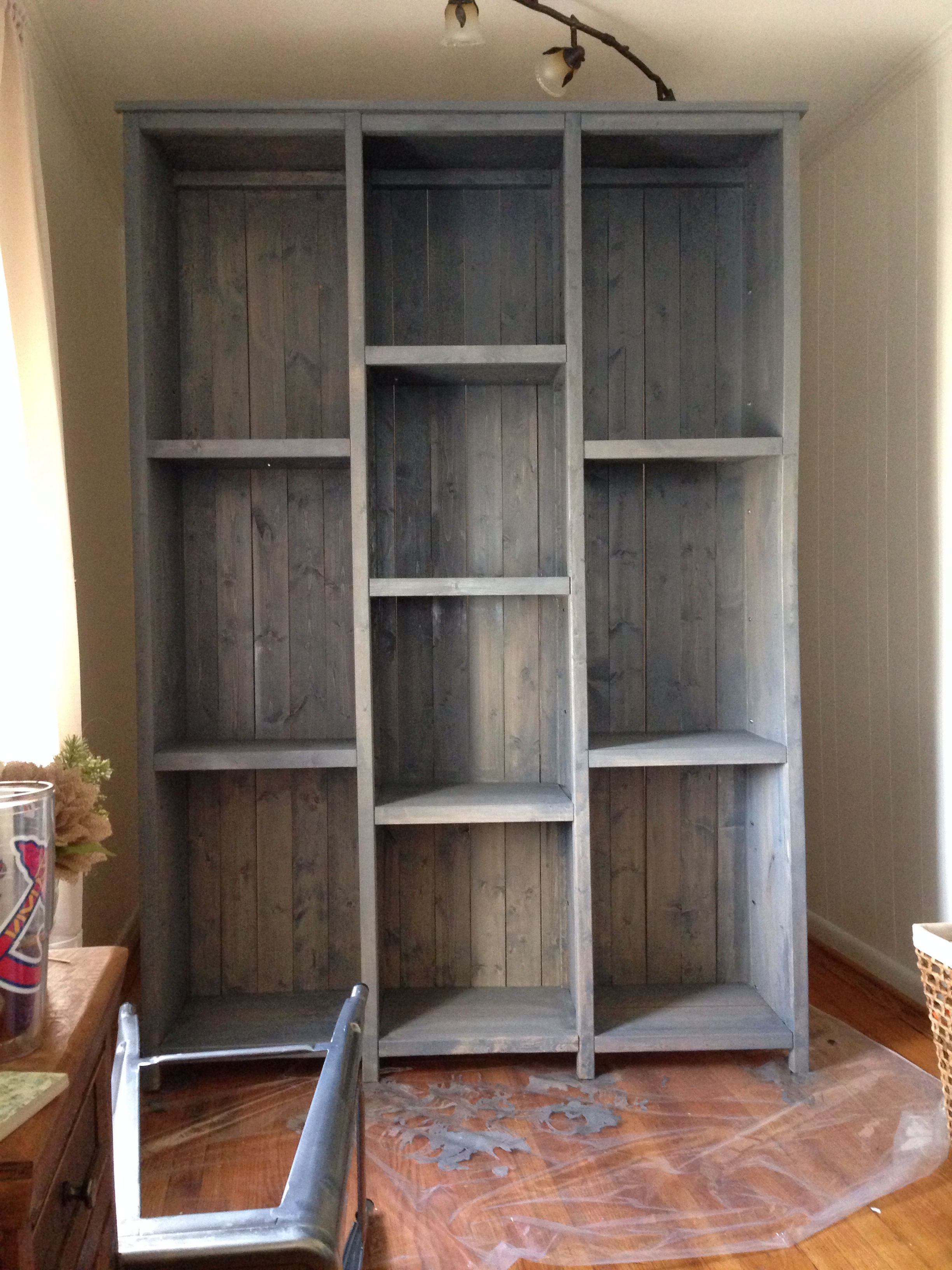 Ana White Inspired Bookshelves Customized For Our Casa Used Rustoleum