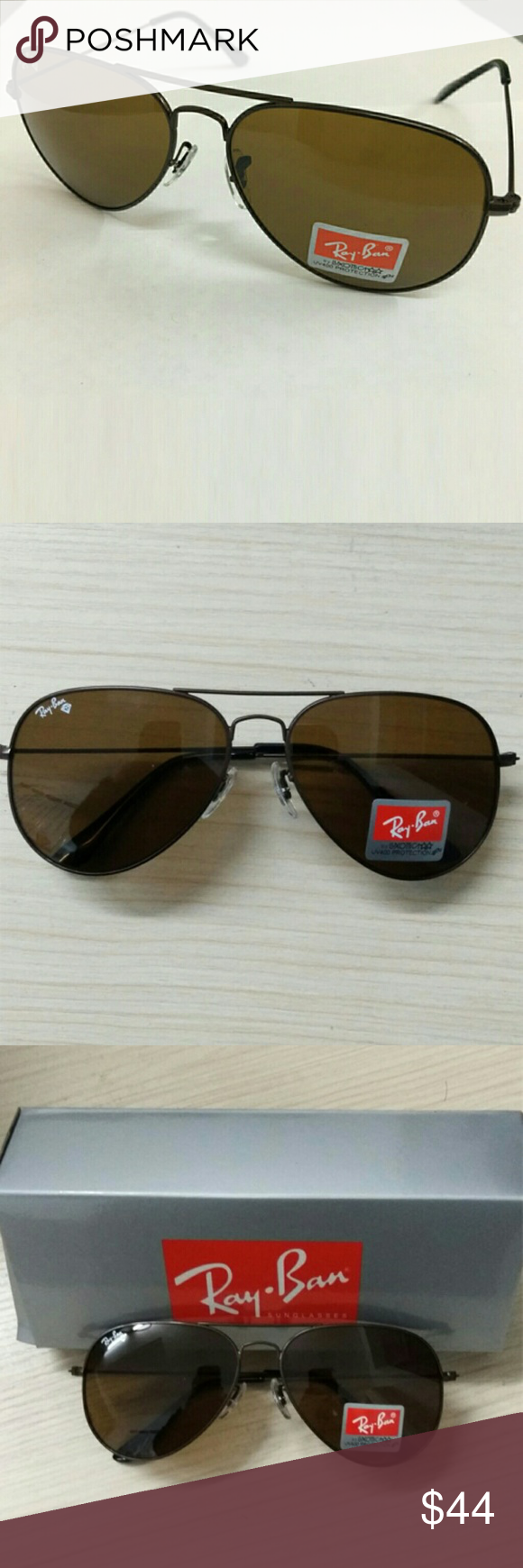 Ray-Ban Aviator RB3025 Large Metal Aviator Sunglas Brand:Ray-Ban Material:Metal frame,Crystal lens non-polarized  Size:Lens width:58mm  Lens height:50mm  Bridge:18mm  Arm:135mm Package contain:1*rayban sunglasses,1*manual,1*cleaning cloth,1*glasses case,1*box Accessories Sunglasses