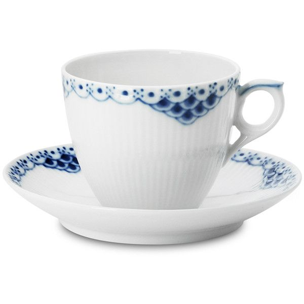 Royal Copenhagen Princess Teacup & Saucer ($85) ❤ liked on Polyvore featuring home, kitchen & dining, drinkware, royal copenhagen, royal copenhagen tea cup and saucer and porcelain tea cup and saucer