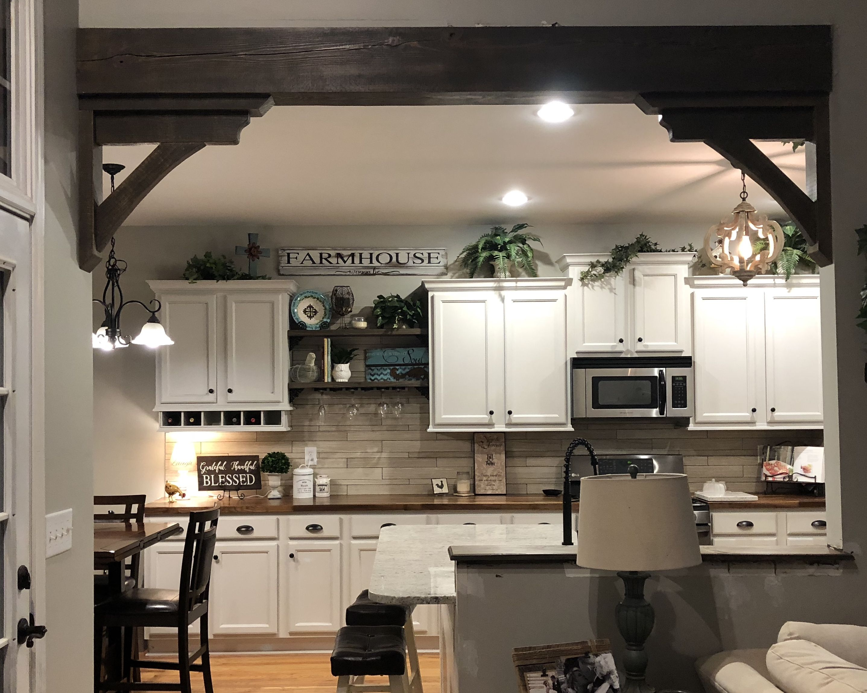 Beam W Corbels Separating Living Room And Kitchen Beams Li