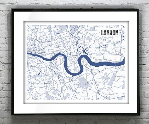 London england uk blueprint map poster art by aninspiredimage london england uk blueprint map poster art by aninspiredimage malvernweather Image collections