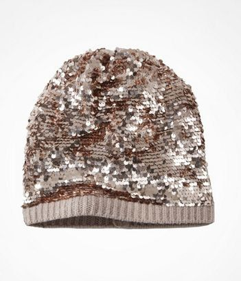 SLOUCHY SEQUIN BEANIE at Express  a6b44030e76