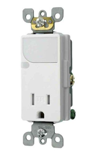 Led Night Light Outlet Perfect For The Bathroom And Saves Money Leviton Led Night Light Outlet Receptacles
