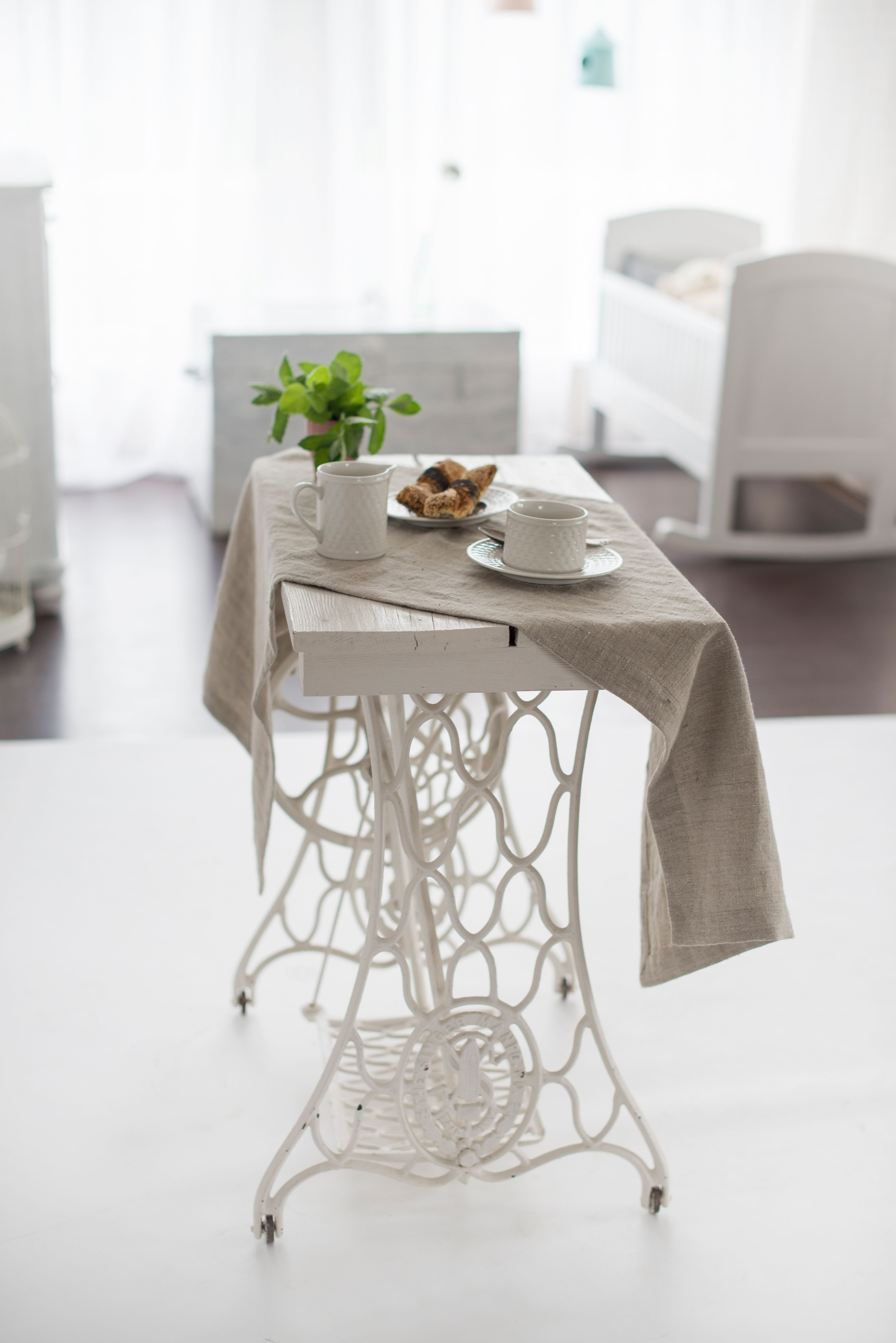 Table runner / Natural linen color table runner / Long ...