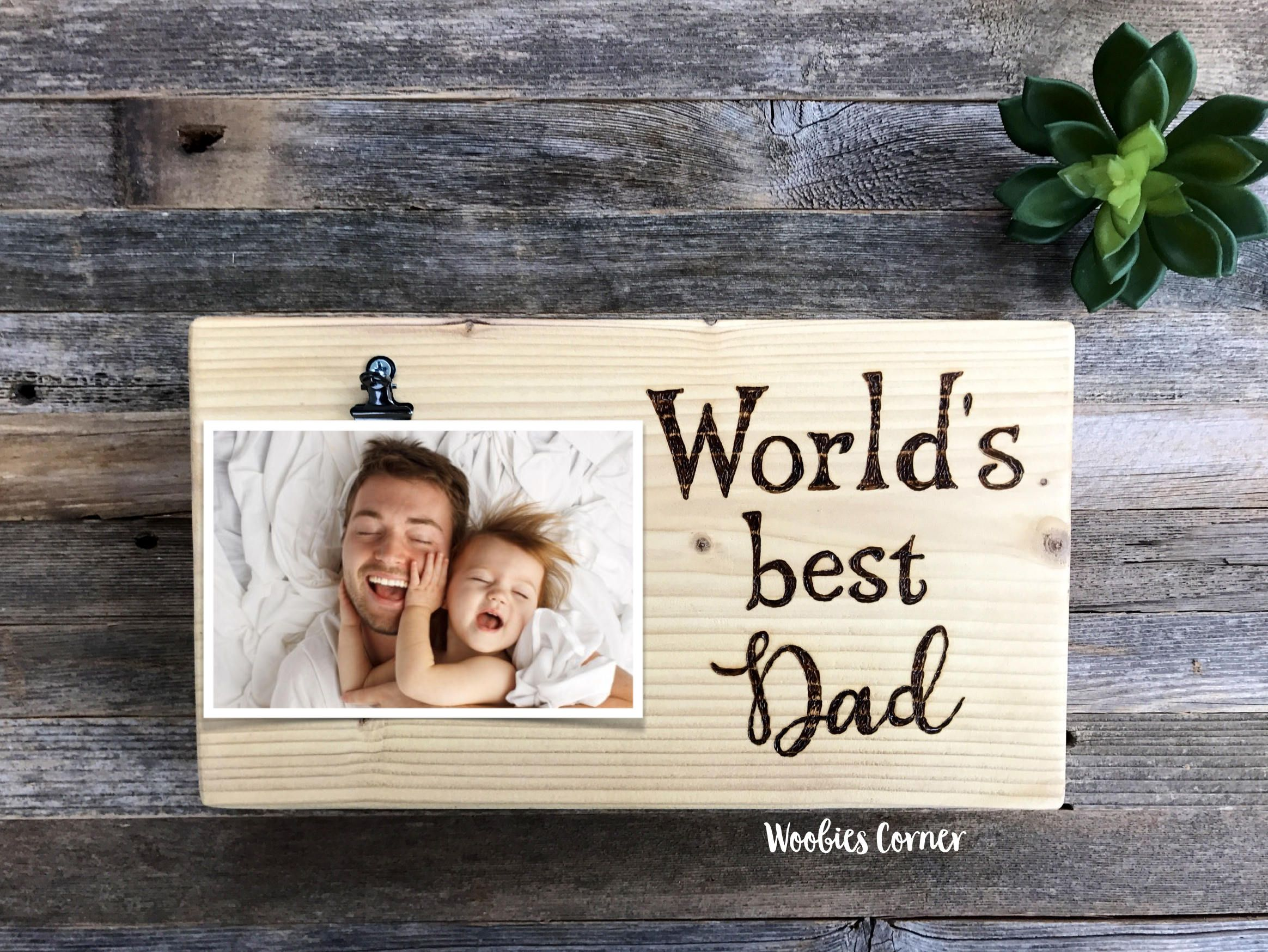 Dad picture frame, Dad photo frame, Fathers Day gift, Gift for dad ...