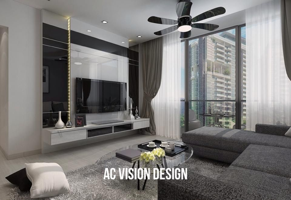 Hdb Bto 4Room Modern Grey Exquisite  Living & Dining  Pinterest Endearing Contemporary Living Room Design Ideas Inspiration Design