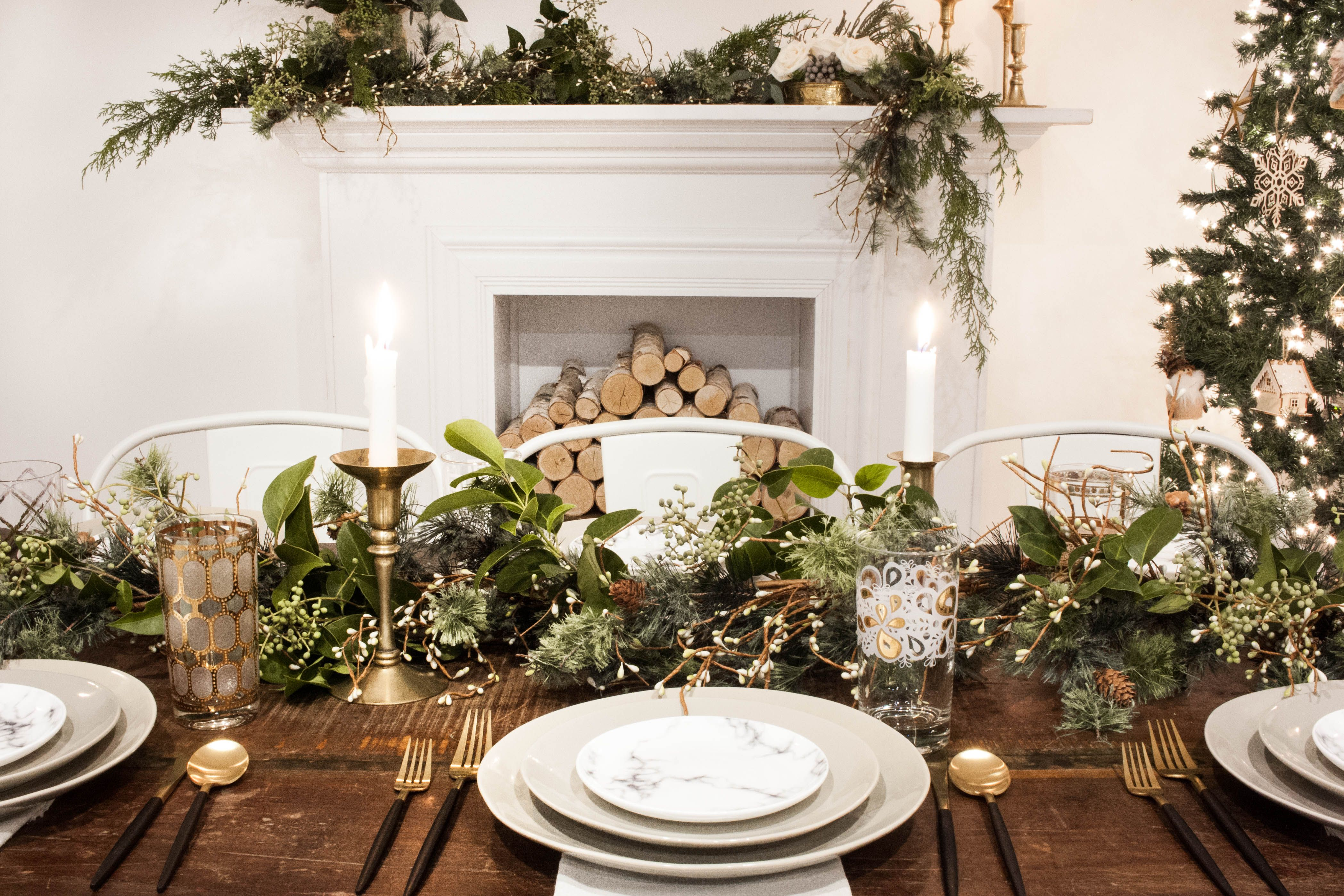 Modern Winter Wonderland Corporate Holiday Party Christmas Dinne Christmas Party Decorations Table Corporate Christmas Party Decorations Mid Winter Christmas