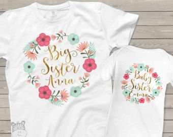 8e5d55d39f26f chemise petite soeur grande soeur ensemble petite sœur - frère correspondant  floral adorable set w   paillettes ou une feuille pour soeur correspondante  ...