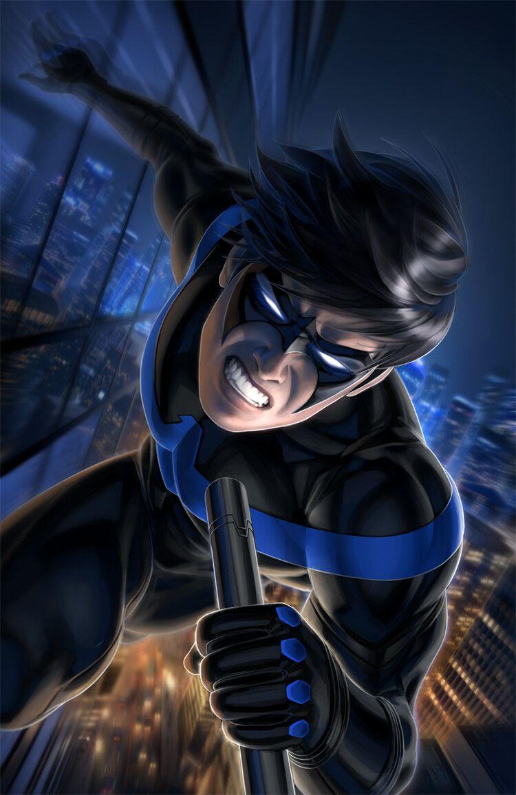 Nightwing 60 by warren louw dc comics wallpaper
