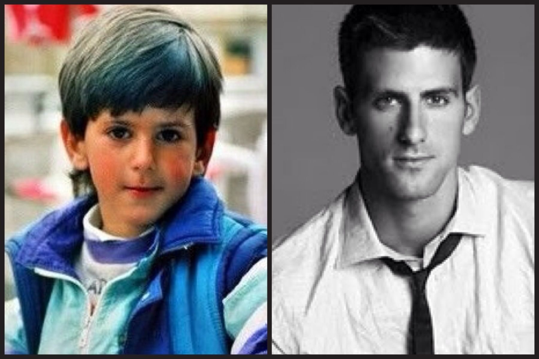 Novak Djokovic From Boy To Man Tennis Champion Tennis Stars Tennis Professional