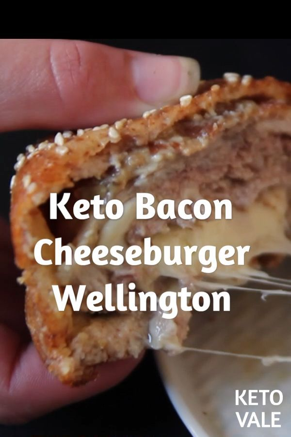 Bacon Cheeseburger Wellington Low Carb Recipe for Keto diet. #Bacon #Carb #Cheeseburger #fitness foo...