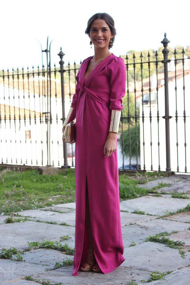 Vestido manga larga para boda. la invitada perfecta. | Something ...