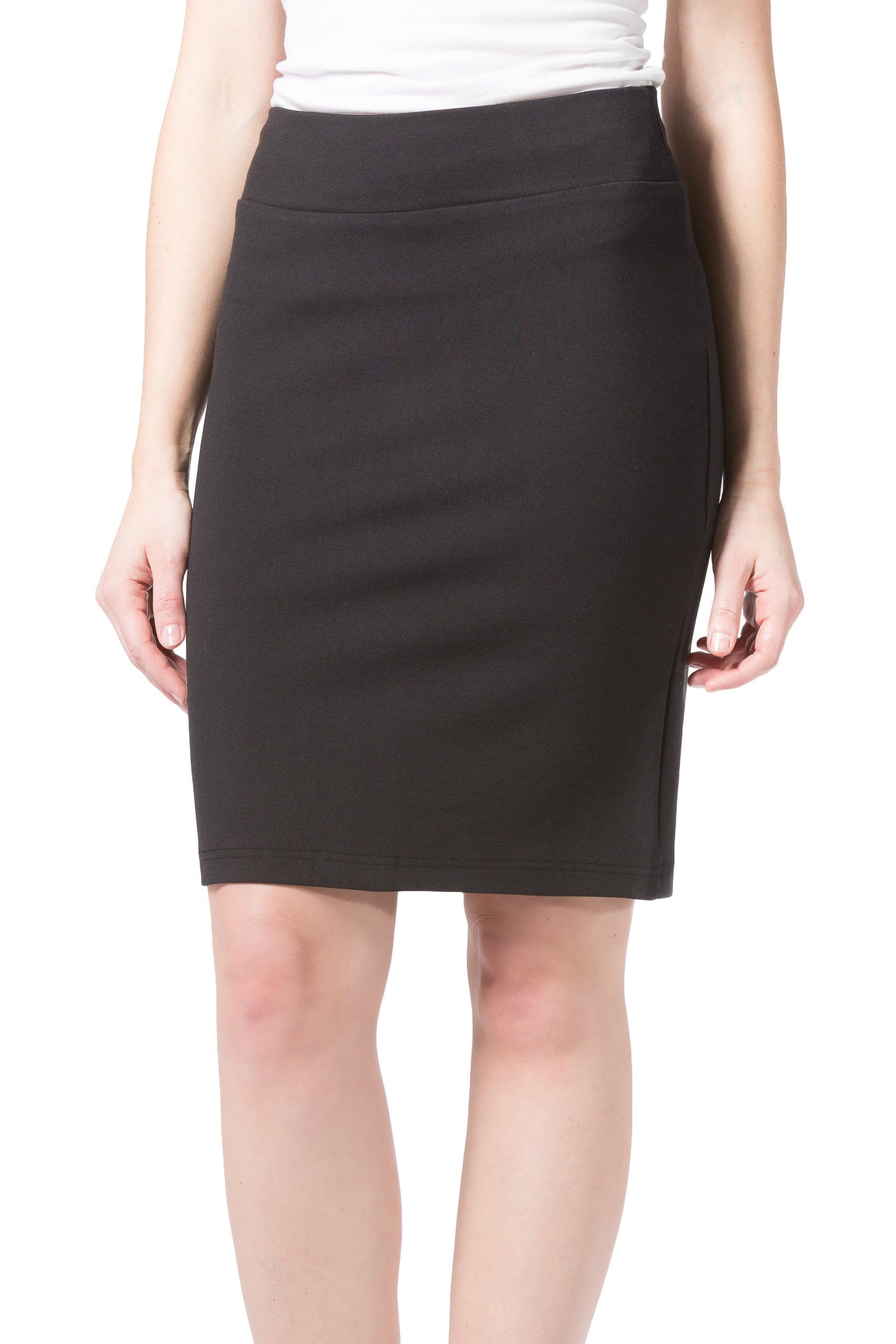 9c2aabe3aa Fishers Finery Womens Ecofabric Ponte Stretch Pencil Skirt; Pull On Black L  * You could obtain added information at the image link.