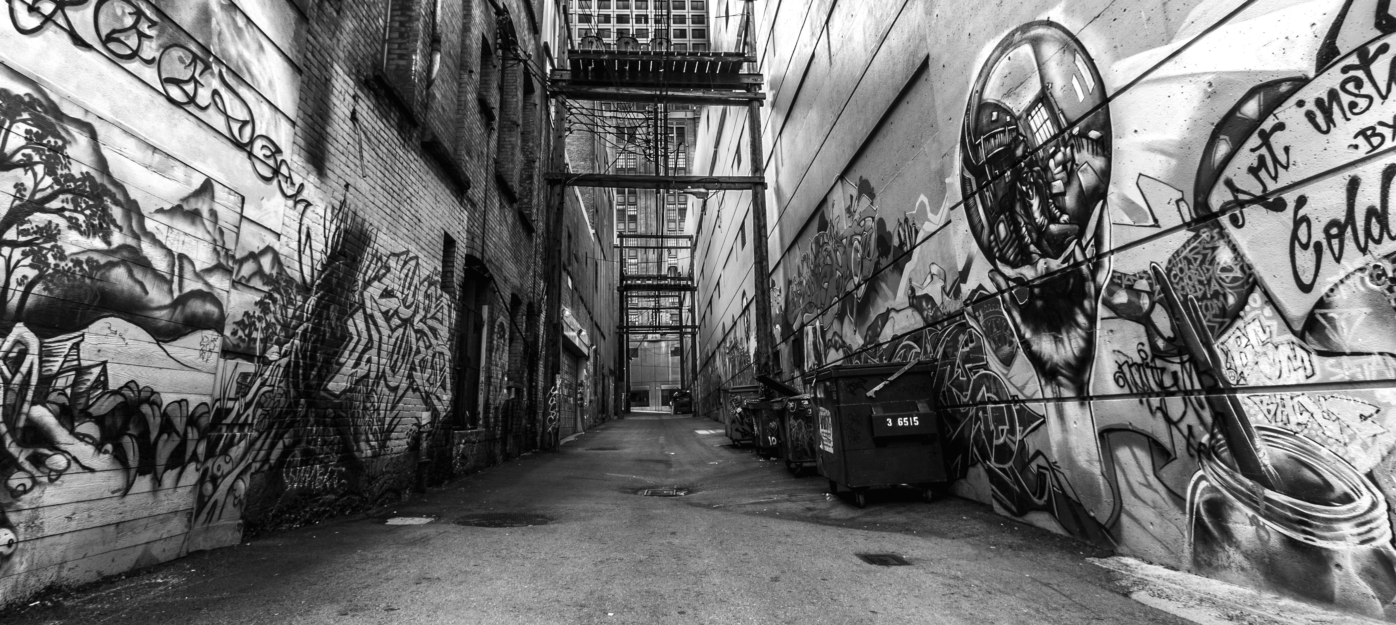 Graffiti Black And White Backgrounds Desktop Wallpapers