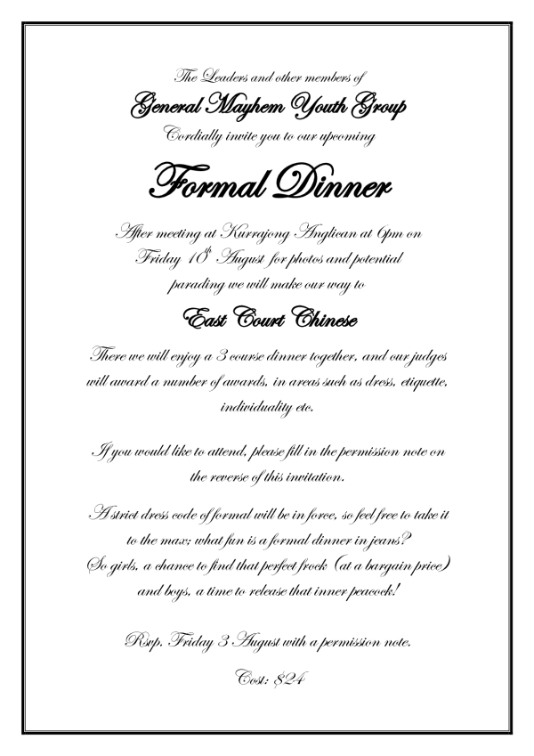 Formal Invitation Wording  Wedding Ideas    Formal
