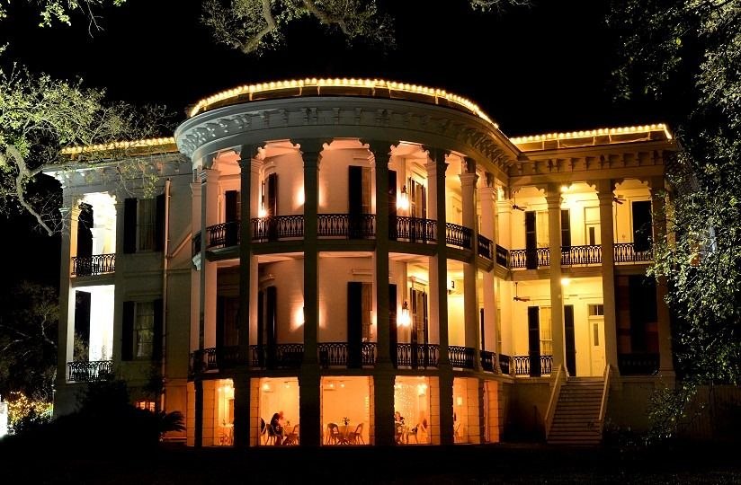 Truly just a dream! Nottoway Plantation, White Castle, LA, at night.