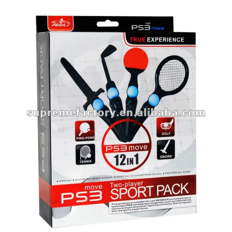 For Ps3 Move Controller 12 In 1 Sport Pack Handle 8 25 Sport Pack Sports Moving