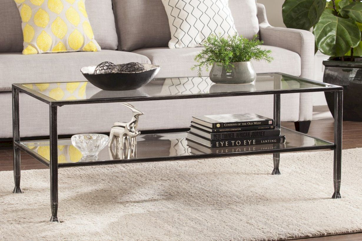 Awesome 48 fascinating rectangular glass coffee tables